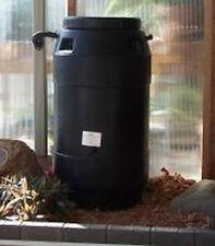 Aunt Molly's 60 Gallon Black Plastic Rain Barrel With Rain Water Diverter