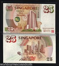 SINGAPORE 25 DOLLARS 1995 P33 LION COMMEMORATIVE UNC NOTE BRUNEI CURRENCY MONEY