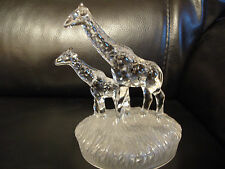RCR ROYAL CRYSTAL ROCK  GLASS GIRAFFE ANIMAL FIGURINE ORNAMENT VINTAGE 1980s