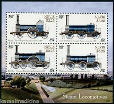 Nevis 2014 MNH SS, 1857 Steam Locomotives, Trains, Railways Queen Class Engine
