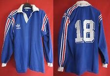 Maillot Rugby Equipe de France Vintage ADIDAS Coton Porté n° 18 - M