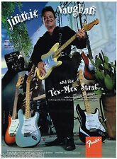 Fender Guitars - Jimmie Vaughan and the Tex-Mex Strat (1997) Print Advertisement