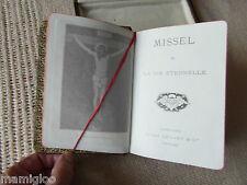 missel  cuir tranche doré 1922 DANS BOITE §§§missal leather