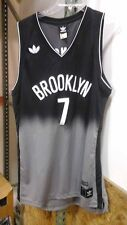 Adidas Swingman NBA Jersey BROOKLYN Nets Joe Johnson Black Fadeaway sz M
