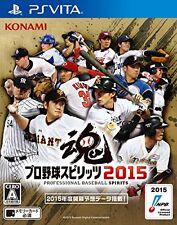 Used PS Vita Pro Baseball Spirits 2015 Import Japan