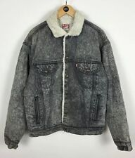 Men's Levi Strauss Sherpa Denim jacket / Large / Cowboy / Trucker