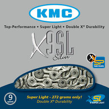 New KMC X9 SL Nickel Plated Hollow Pin Hollow Plate 9 Speed MTB Chain 116 Links