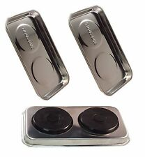 """2x MAGNETIC STAINLESS STEEL PARTS TRAY MAGNETIC DISH PARTS DISH NEW 9""""x5.5"""""""