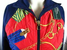 RALPH LAUREN ACTIVE Womens QUILTED EQUESTRIAN PRINT Jacket XS NWT - MSRP $119