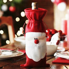 Red Christmas Wine Bottle Cover Christmas Decoration Home Party Decor New W87