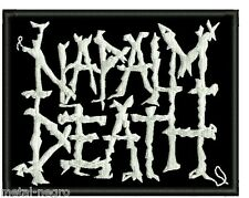 NAPALM DEATH EMBROIDERED PATCH GRINDCORE TERRORIZER EXIT 13 AEON Metal Negro