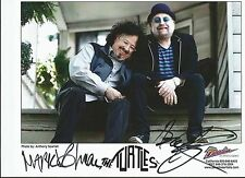 THE TURTLES AUTOGRAPHED LARGE PHOTO SIGNED BY HOWARD KAYLAN  & MARK VOLMAN