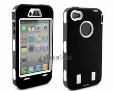 HEAVY DUTY BUILDER WORKMAN STURDY CASE COVER FOR APPLE iPHONE 4 / 4S FULL ARMOUR