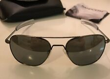 Randolph Engineering Sunglasses Aviator Gun Metal,58mm Gray Flash Lens,Bayonet