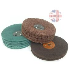 SATIN FINISHING KIT ALL METALS- matt (Sateen) finish. Scotchbrite Lap Disc Mops