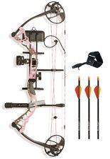 New Diamond Infinite Edge Pro RH 5-70# Pink Blaze Bow Package w/ Arrows Release