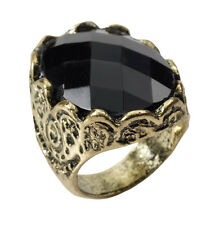 Black Stone Ring Gothic Medieval Fancy Dress Costume Game Of Thrones Jewellery