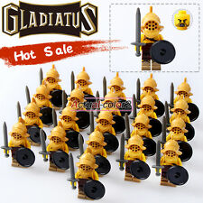 21PCS/Lot Gladiatus Minifigures Medieval Knights Rome soldiers