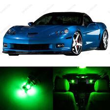 9 x Green LED Interior Light Package For 2005 - 2013 Chevy Corvette C6