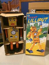 2014 Tin Metal Wind Up Walking Robot Toy Lemon LILLIPUT MS393 LARGE Toy MIB