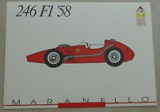 Ferrari Galleria 1991 246 F1 1958 Card Karte brochure prospekt book buch press