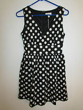 NWT Modcloth Freeway Polka Dot Fit and Flare Black/White Dress size Small