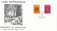 Guernsey 1980 Coin Definitives Low values Unadressed FDC VGC