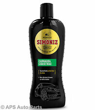 Simoniz Carnauba Liquid Wax Car Polish Auto Care Protection & Shine 500ml New
