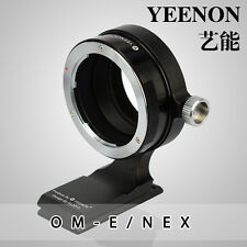 【YEENON】Olympus OM lens TO SONY E Camera Adapter (With 90º rotating tripod base)