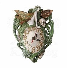 Absinthe Fairy Forest Fairy Resin Wall Clock Alchemy Gothic