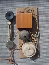 Téléphone en bois combiné Le Parisien Unis France vers 1910