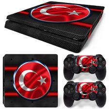 Sony PS4 Playstation 4 Slim Skin Aufkleber Schutzfolie Set - Turkey Motiv