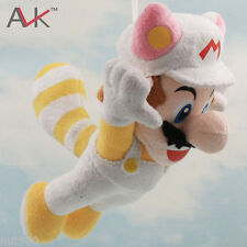 SUPER MARIO BROS.TANOOKI BIANCO PELUCHE 23Cm - Plush White New U World 3D Wii