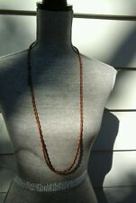 BEAUTIFUL MAISON SCOTCH NECKLACE COPPER TONE LONG ROPE STYLE