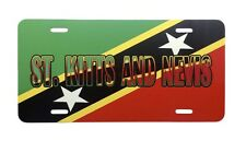 St Kitts and Nevis License Plate Basseterre Automobile Car Truck Flag Sign Soca
