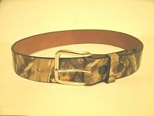 Mathews Lost Camo Leather Belt Amish Crafted Made In USA Size 48
