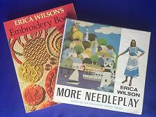 2 Erica Wilson Books Embroidery Book And More Needleplay 1 Hardcover 1 Softcover