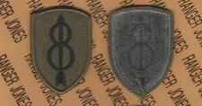 US Army 8th Infantry Division Pathfinders OD Green & Black BDU uniform patch m/e