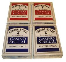 4 Decks of Authentic Unbranded Casinio Playing Poker Cards
