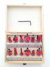 ROUTER BIT TCT 12PC ROUTER BIT SET CUTTING WOOD TIMBER LAMINATE DOWELLING CUTTER