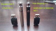 2 Pack Variable Voltage Pen Battery W/USB Charger O.pen Bud Touch