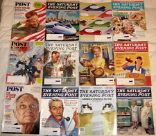 Lot SATURDAY EVENING POST 12 magazines 2009,2010,2011,2012,2013 Norman Rockwell