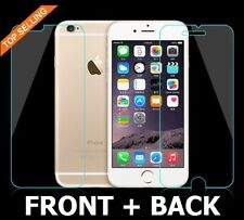 100% Genuine Tempered Glass Screen Protector Front Back for Apple iPhone 6S Plus