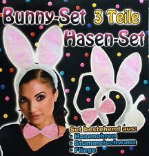 Bunny Hasen Set Hasenohren, Fliege und Puschelschwänzchen