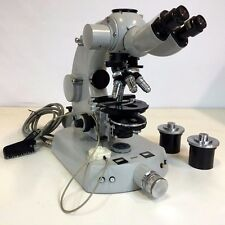Carl Zeiss III RS Binocular Phase Contrast Polarizing Microscope Fluorescence