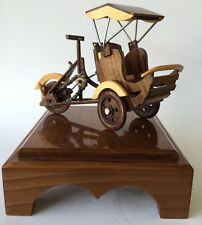 Cycle Pedicab Becak Rickshaw Wooden Model of a Bike Taxi Rare