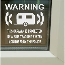 6 x Caravan Security Stickers-GPS Tracker Warning Signs-Static,Mobile,Caravaners