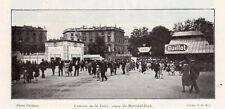 BORDEAUX ENTREE DE LA FOIRE COURS MARECHAL FOCH IMAGE 1928 OLD PRINT