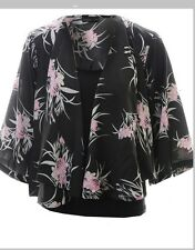 Vero Moda Anna Kimono in Black and Pink cardigan jacket medium