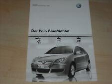 47168) VW Polo 9N BlueMotion Preise & Extras Prospekt 06/2007